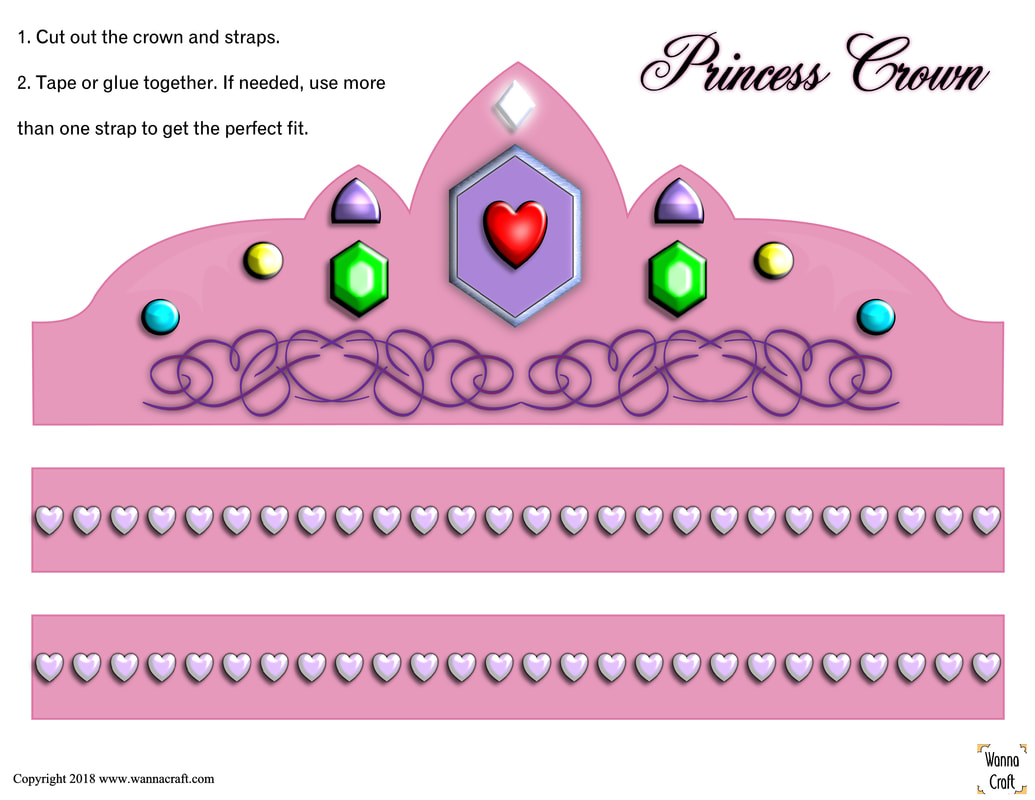 It's just a photo of Princess Crowns Printable with pink